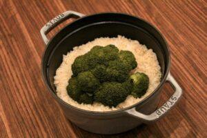 ブロッコリーの炊き込み御飯の作り方